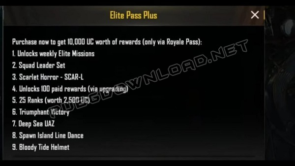 Elite Upgrade Pass Plus (1800UC)
