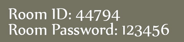 Room ID and password