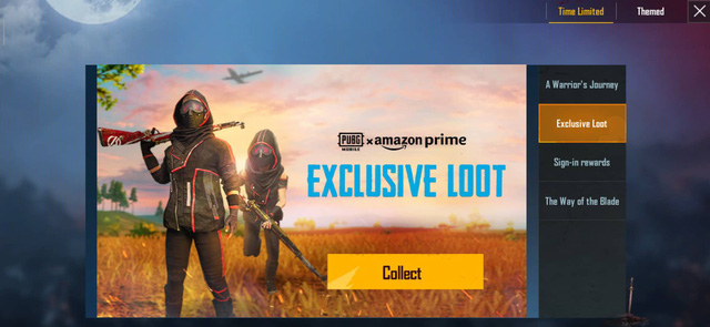 "You will kick off PUBG Mobile again. Move to the Event zone. In the time limited Event, you can search for a title named Exclusive Loot. Pick ""Collect""!"