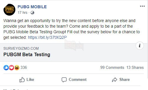 PUBG Mobile Beta Testing Team