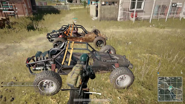 The Buggy from Playerunknown's Battlegrounds