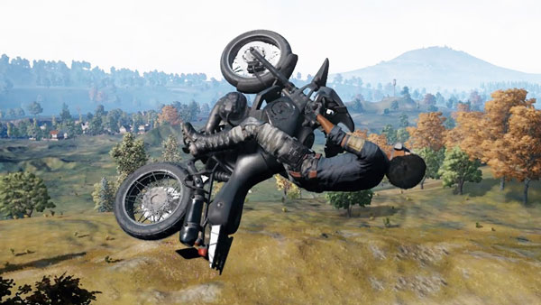 The Motorcycle from Playerunknown's Battlegrounds
